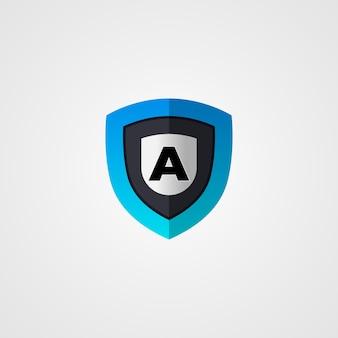 Escudo profissional um logotipo de carta