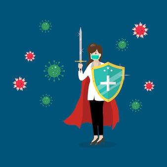 Escudo protegendo ícones de vírus