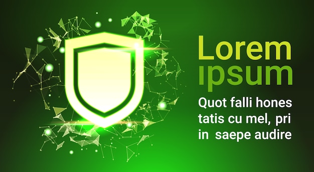 Escudo sobre o conceito de privacidade de proteção de dados verde