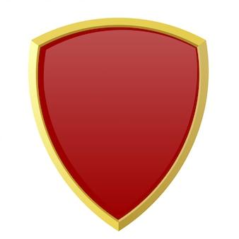 Escudo vermelho ou insígnia