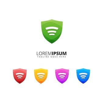 Escudo wifi segurança ilustração