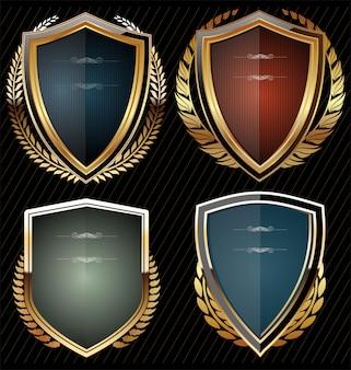 Escudos com coroa de louros