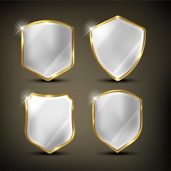 Escudos definir cor dourada