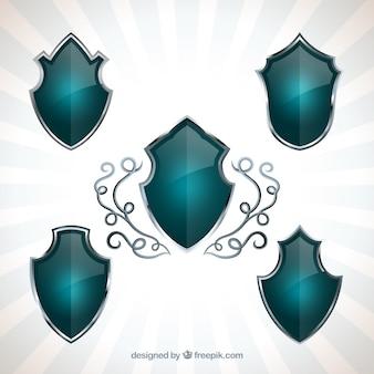 Escudos turquesa