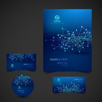Escuro papelaria azul