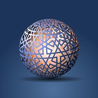 Esfera 3d decorada