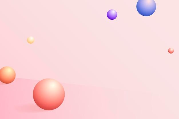Esfera abstrata com fundo estampado