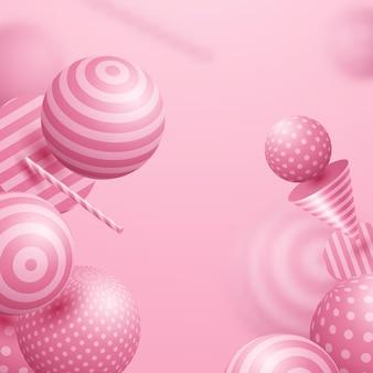 Esfera abstrata cor rosa claro