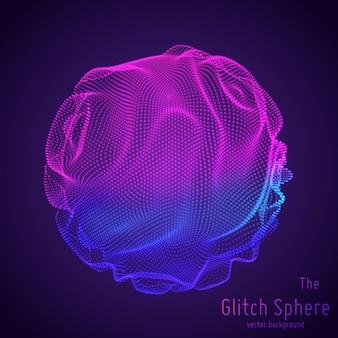 Esfera abstrata de partículas, matriz de pontos.