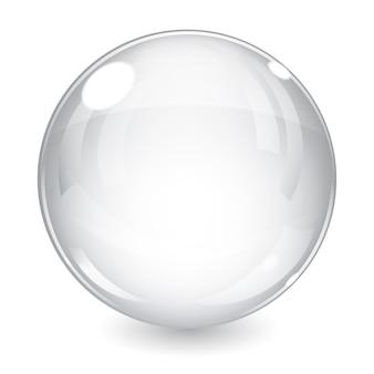 Esfera brilhante branca com sombra
