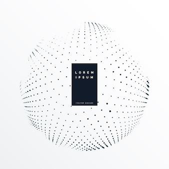 Esfera circular feita com fundo de pontos