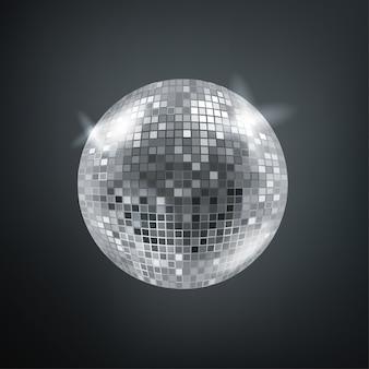 Esfera de discoteca brilhante.