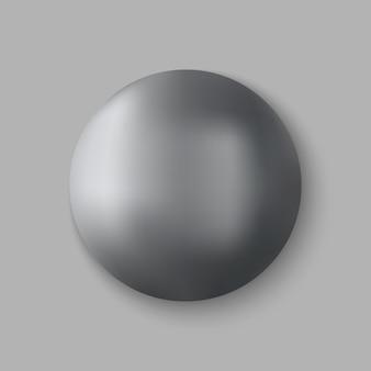 Esfera de metal realista.