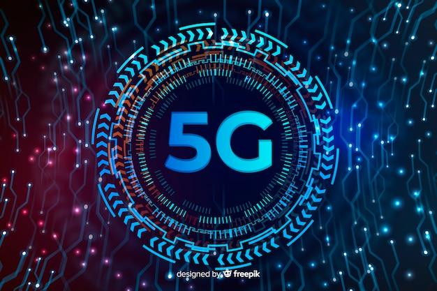 Esfera de tecnologia para fundo do conceito de 5g