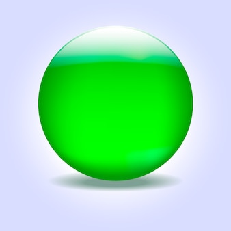 Esfera de vidro verde
