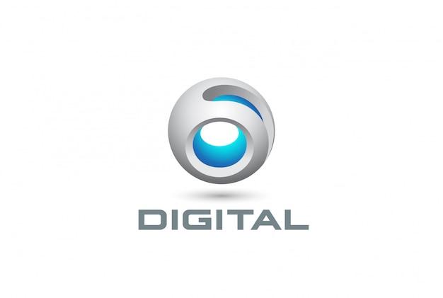 Esfera digital tecnologia logotipo