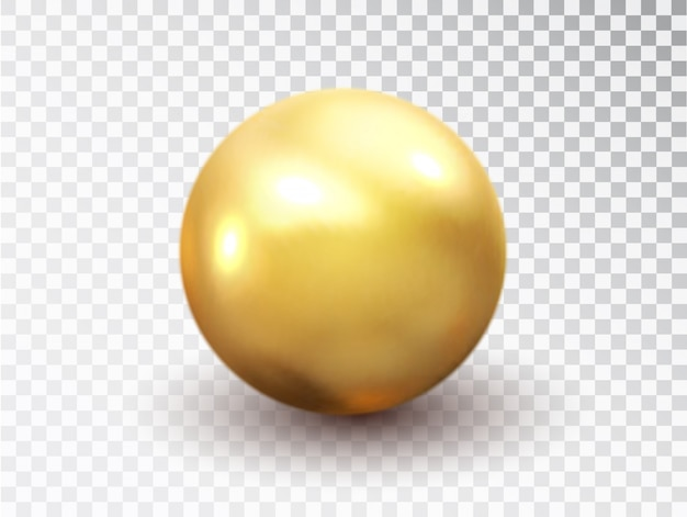 Esfera dourada isolada