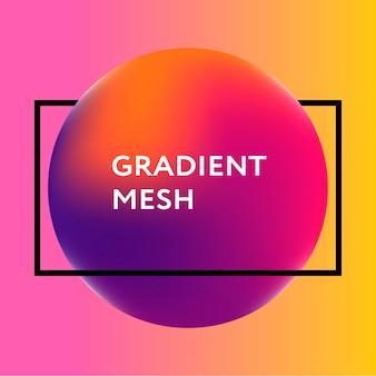 Esfera gradiente abstrata de violeta, rosa, azul