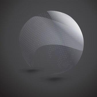 Esfera pontilhada abstrata no escuro
