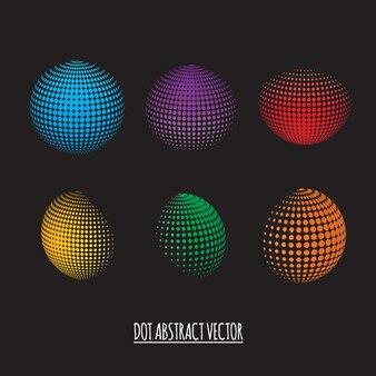 Esferas 3d com pontos