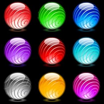 Esferas brilhantes