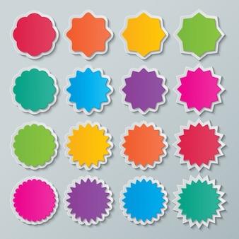 Esferas coloridas dentadas