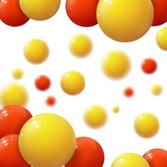 Esferas coloridas realistas. bolhas de plástico.