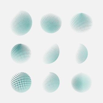 Esferas de meio-tom do vetor
