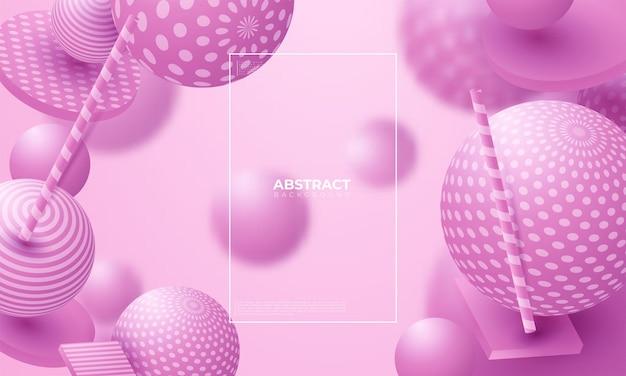 Esferas fluidas 3d. ilustração em vetor abstrata de bolhas multicoloridas ou cluster de bolas. conceito moderno e moderno. elemento de decoração dinâmica. cartaz futurista ou design de capa