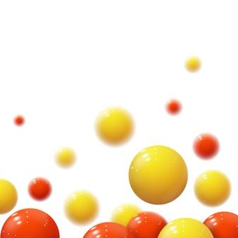 Esferas macias realistas. bolhas de plástico. bolas brilhantes