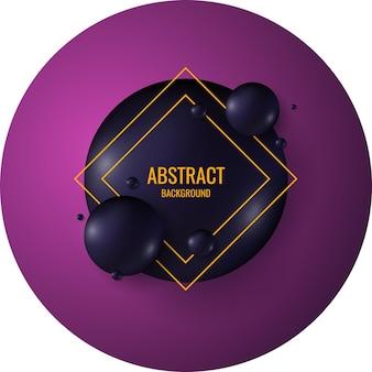 Esferas pretas sobre um fundo brilhante. ilustração abstrata.