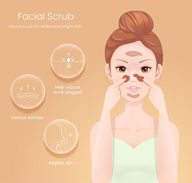 Esfoliante facial para pele branca e brilhante