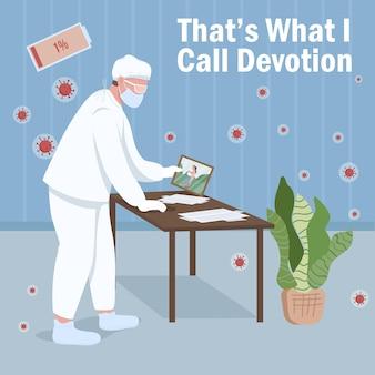 Esgotamento médico. isso é o que chamo de frase de devoção.