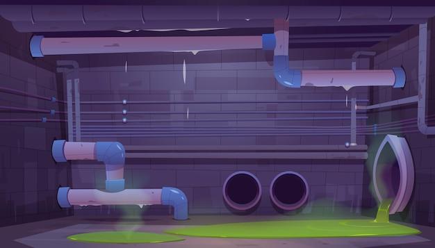 Esgoto esgoto sistema de tubos de drenagem