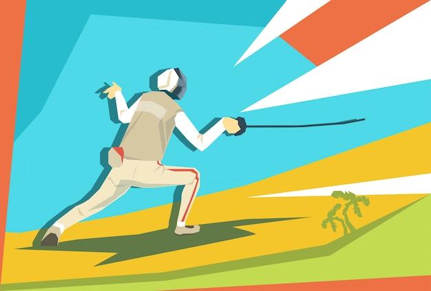 Esgrima atleta fencer sport competition
