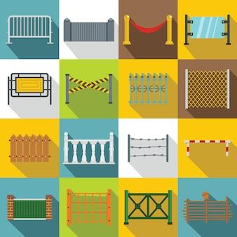 Esgrima conjunto de ícones, estilo simples