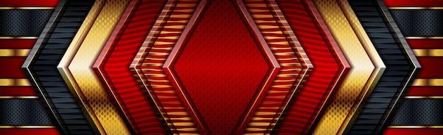 Esmeralda vermelho preto profundo com gradação em ouro real