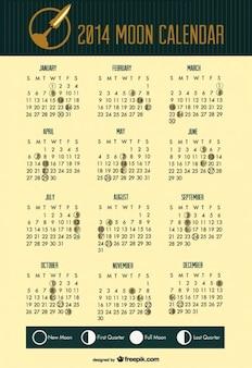 Espaço 2014 fases da lua calendário cabeçalho foguete
