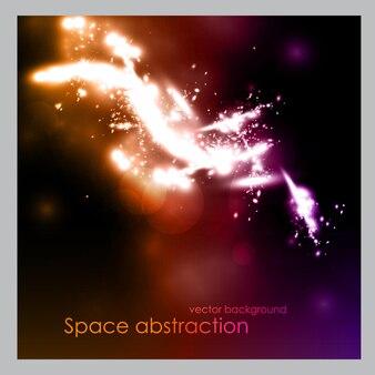 Espaço com estrelas. ilustração