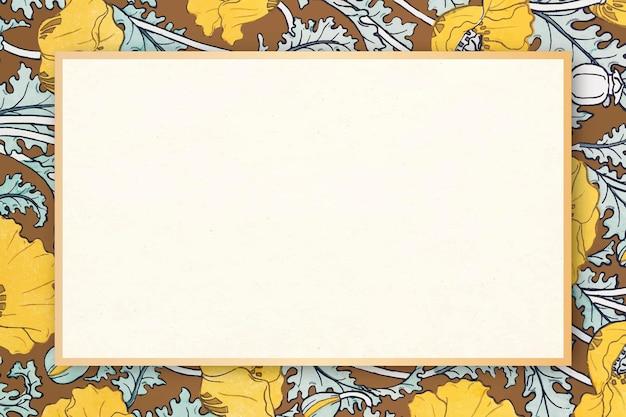 Espaço de cópia de quadro de vetor de padrão floral antigo