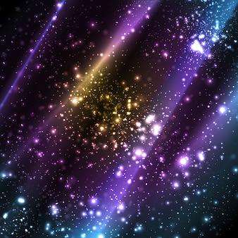 Espaço de cosmos abstrato apocalíptico fundo