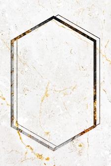 Espaço de design de moldura de mármore