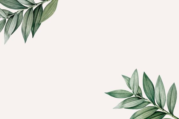 Espaço de design temático botânico