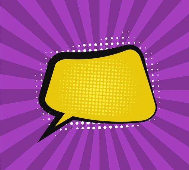 Espaço de texto em estilo cômico