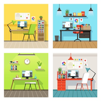 Espaço de trabalho criativo para designers