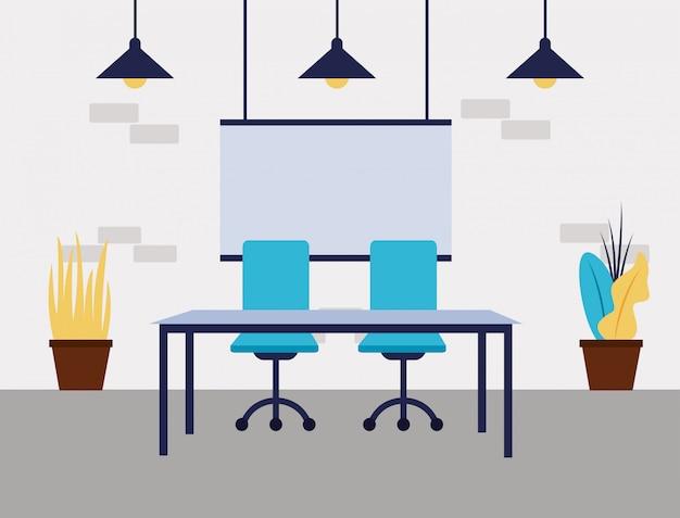 Espaço de trabalho do escritório