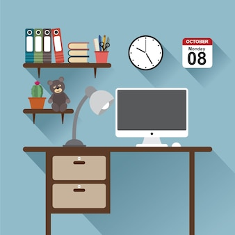 Espaço de trabalho do office