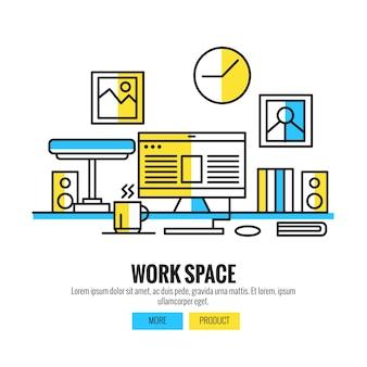 Espaço de trabalho para designers, fotógrafos e tipógrafos
