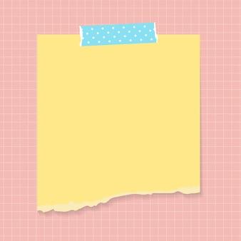 Espaço em branco no modelo de notas auto-adesivas rasgadas