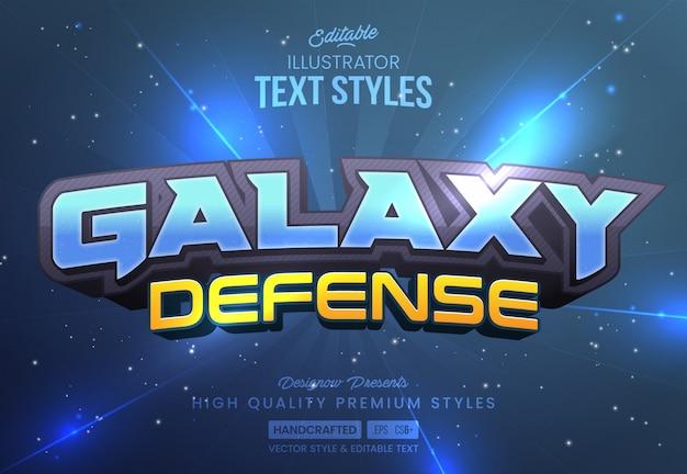 Espaço galaxy text style